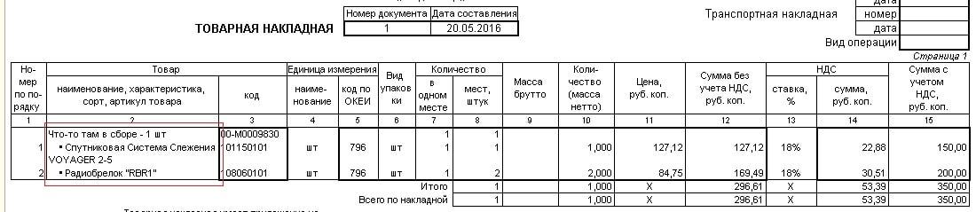 1С ERP ТОГР-12 на набор и комплектующие